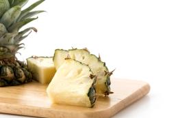 fresh pineapple on white background