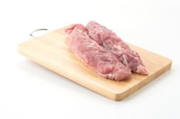 pork fillet on white background