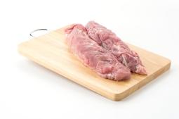 pork fillet on white background